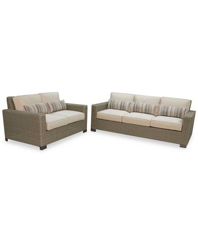 Del Mar 2-Pc. Seat Set (1 Sofa & 1 Loveseat), Created for Macy's