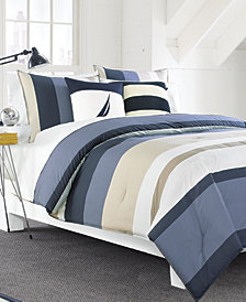 Nautica Grand Bank Cotton 3-Pc. Colorblocked Full/Queen Duvet Cover Set