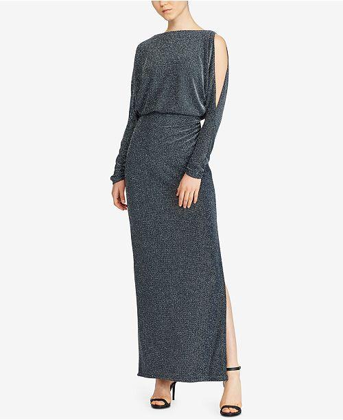 Lauren Ralph Lauren Metallic Chevron Gown - Dresses - Women - Macy\'s