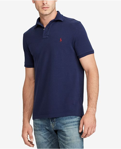 608383415aeb Polo Ralph Lauren Men s Custom Slim Fit Mesh Polo   Reviews - Polos ...