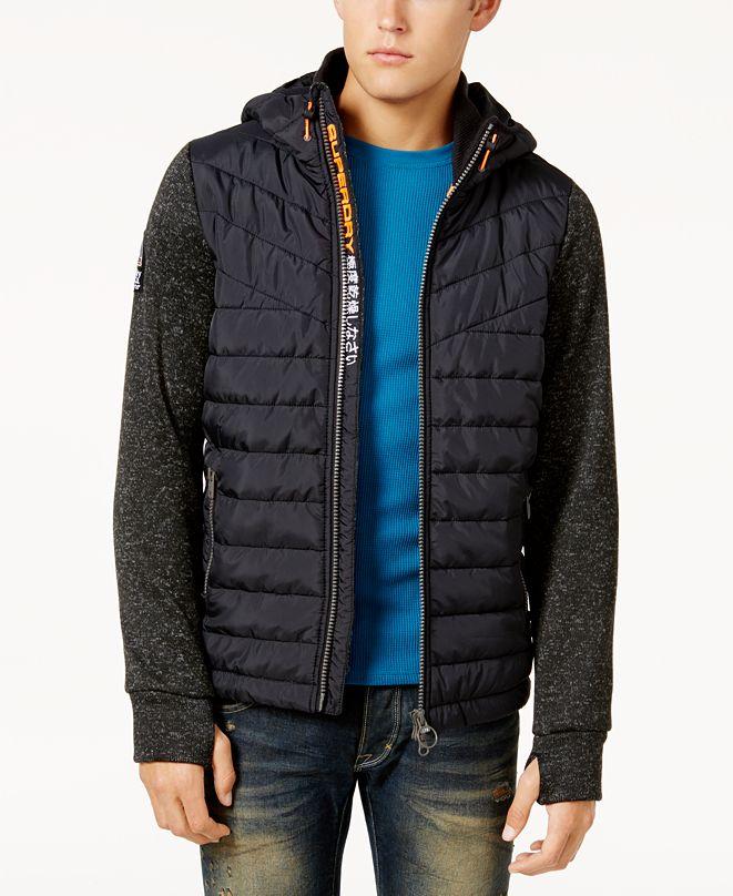 Superdry Men's Mixed Media Hooded Jacket