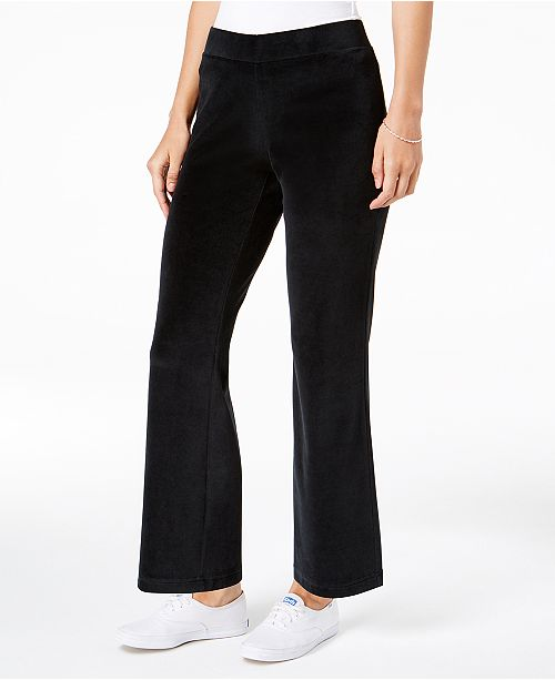 9460f30e5c3 ... Charter Club Petite Pull-On Velour Pants