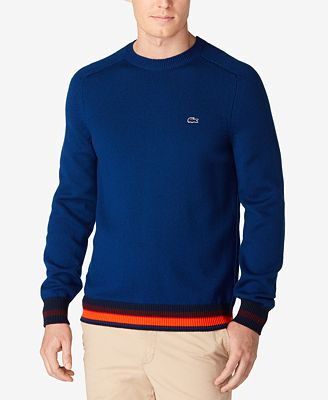 Lacoste Men's Classic-Fit Pullover Wool Sweater