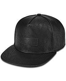 Sean John Men's Faux-Leather Flat-Brim Hat, Created for Macy's