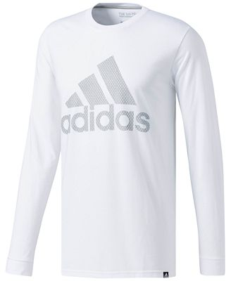 adidas Men's Mesh Logo Long-Sleeve T-Shirt - T-Shirts - Men - Macy's