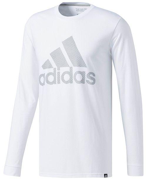 9829858a adidas Men's Mesh Logo Long-Sleeve T-Shirt & Reviews - T-Shirts ...