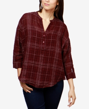 Lucky Brand Plaid Top...