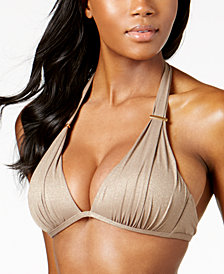 Kenneth Cole Metallic Push-Up Bikini Top