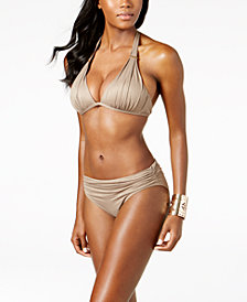Kenneth Cole Metallic Push-Up Bikini Top & Bottoms