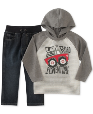 Kids Headquarters 2Pc OffRoad Hooded Shirt  Pants Set Toddler Boys (2T5T)