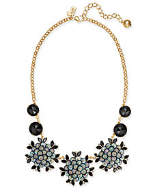 kate spade new york Gold-Tone Pavé, Sequin & Jet Stone Statement Necklace