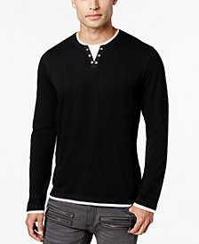 I.N.C. Men's Layered Long-Sleeve Shirt, Created for Macy's