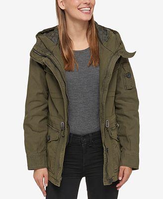Levi's Hooded Military Jacket - Coats - Women