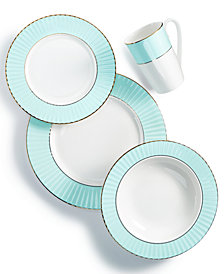 Lenox Pleated Colors Aqua Dinnerware Collection