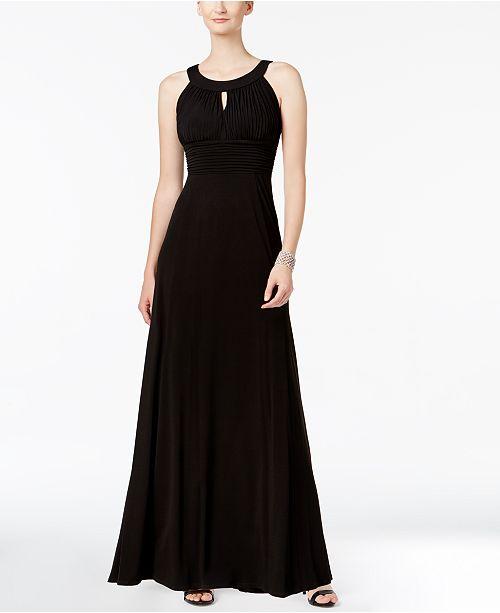 Sangria Gown Sangria Keyhole Sleeveless Black Sleeveless Gxszpwqsd