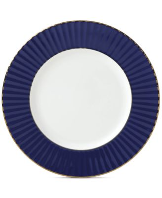 Pleated Colors Navy  Salad Plate