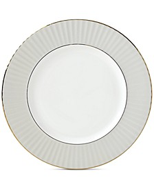 Pleated Colors Gray Dinner Plate