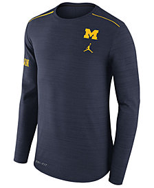 Nike Men's Michigan Wolverines Dri-Fit Breathe Long Sleeve T-Shirt