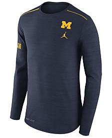 Nike Men's Michigan Wolverines Dri-Fit Breathe Long Sleeve T-Shirt