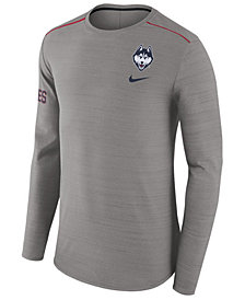 Nike Men's Connecticut Huskies Dri-Fit Breathe Long Sleeve T-Shirt