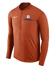 Nike Men's Clemson Tigers Coaches Quarter-Zip Pullover