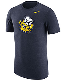 Nike Men's Michigan Wolverines Vault Logo Tri-Blend T-Shirt