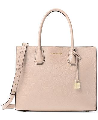 65405e03e50201 Michael Kors Mercer Pebble Leather Tote & Reviews - Handbags & Accessories  - Macy's