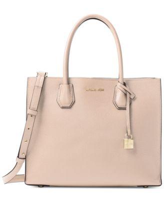 michael kors mercer pebble leather tote handbags accessories rh macys com