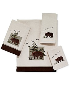 Bear Patch Cotton Embroidered Fingertip Towel