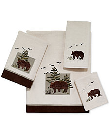 Avanti Bear Patch Cotton Embroidered Bath Towel Collection
