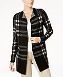 Charter Club Petite Plaid Completer Cardigan, Created for Macy's