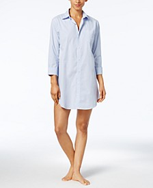 Roll Cuff Sleepshirt Nightgown