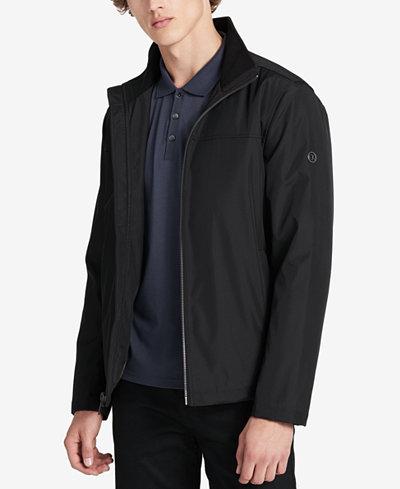 Calvin Klein Men's Big & Tall Zip-Front Open Bottom Jacket