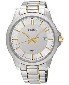 LIMITED EDITION Seiko Men's Special Value Two-Tone Stainless Steel Bracelet Watch 42mm