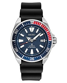 Seiko Automatic Prospex Collection Diver Silicone Strap Watches