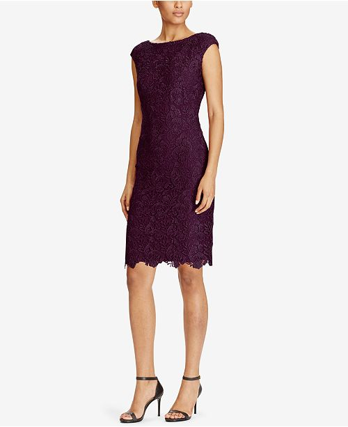 Lauren Ralph Lace Sheath Dress 79 Reviews Main Image