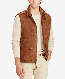 Polo Ralph Lauren Men's Quilted Suede Down Vest