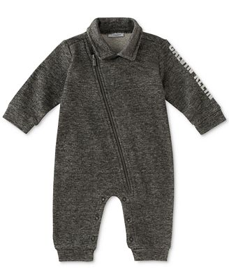 Calvin Klein 1-Pc. Marled Coverall, Baby Boys