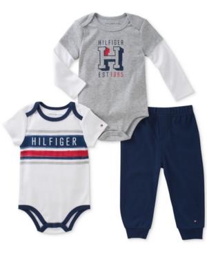 Tommy Hilfiger 3Pc Bodysuits  Pants Set Baby Boys (024 months)
