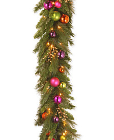 National Tree Company 6' Kaleidoscope Garland With 50 Battery-Operated LED Lights & Timer