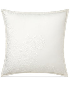 "CLOSEOUT! Lauren Ralph Lauren Yasmine Embellished Floral 20"" Square Decorative Pillow"
