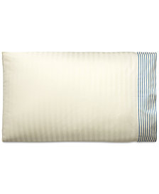 Lauren Ralph Lauren Josephina Cotton Textured Yarn-Dyed Stripe Pair of Standard Pillowcases