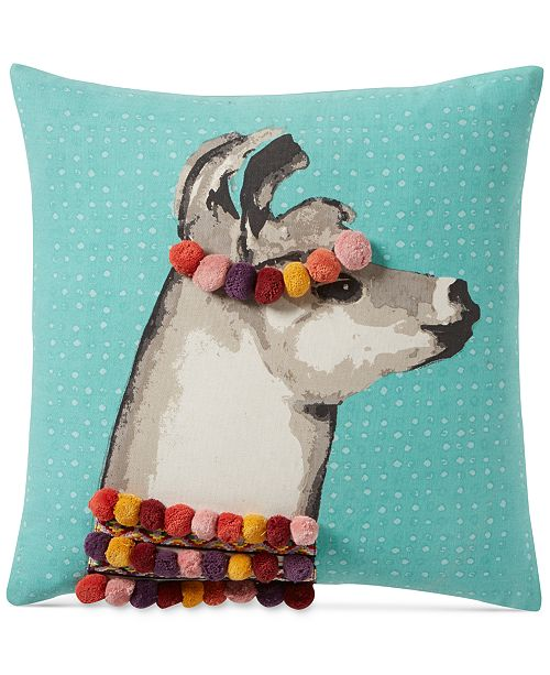 Martha Stewart Collection CLOSEOUT Pretty Llama 40'' Square Stunning Martha Stewart Collection Bedding Dogs Decorative Pillows