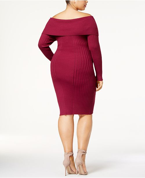 Say What Trendy Plus Size Off The Shoulder Bodycon Dress Dresses