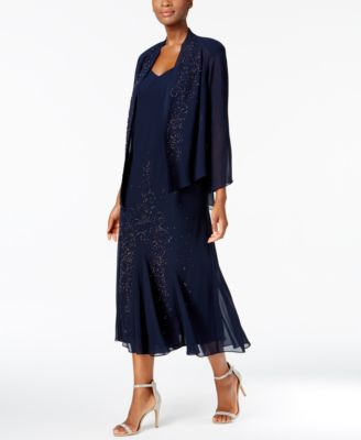 Long sleeveless dress with jacket