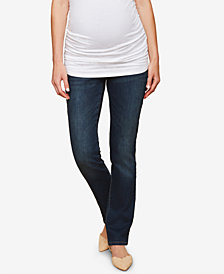 Motherhood Maternity Dark Wash Straight-Leg Jeans