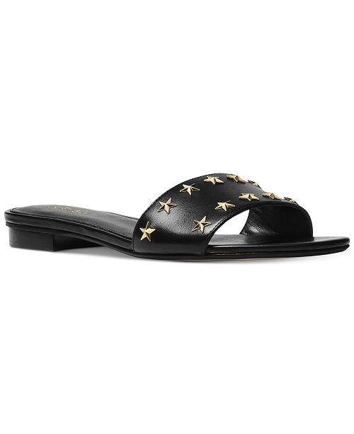 43751ade7 Michael Kors Mercer Slide Flat Sandals   Reviews - Sandals   Flip ...