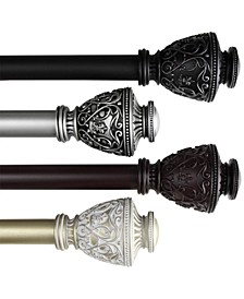 "Veda 1"" Decorative Curtain Rod Collection"