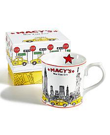 Macy's Porcelain Taxi Mug