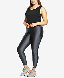 Soffe Curves Plus Size Active High-Shine Leggings
